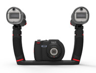The set is compatible with all underwater cameras using a standard tripod mount