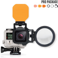 FLIP4 Pro Package with SHALLOW, DIVE & DEEP Filters & +15 MacroMate Mini Lens for GoPro 3, 3+, 4