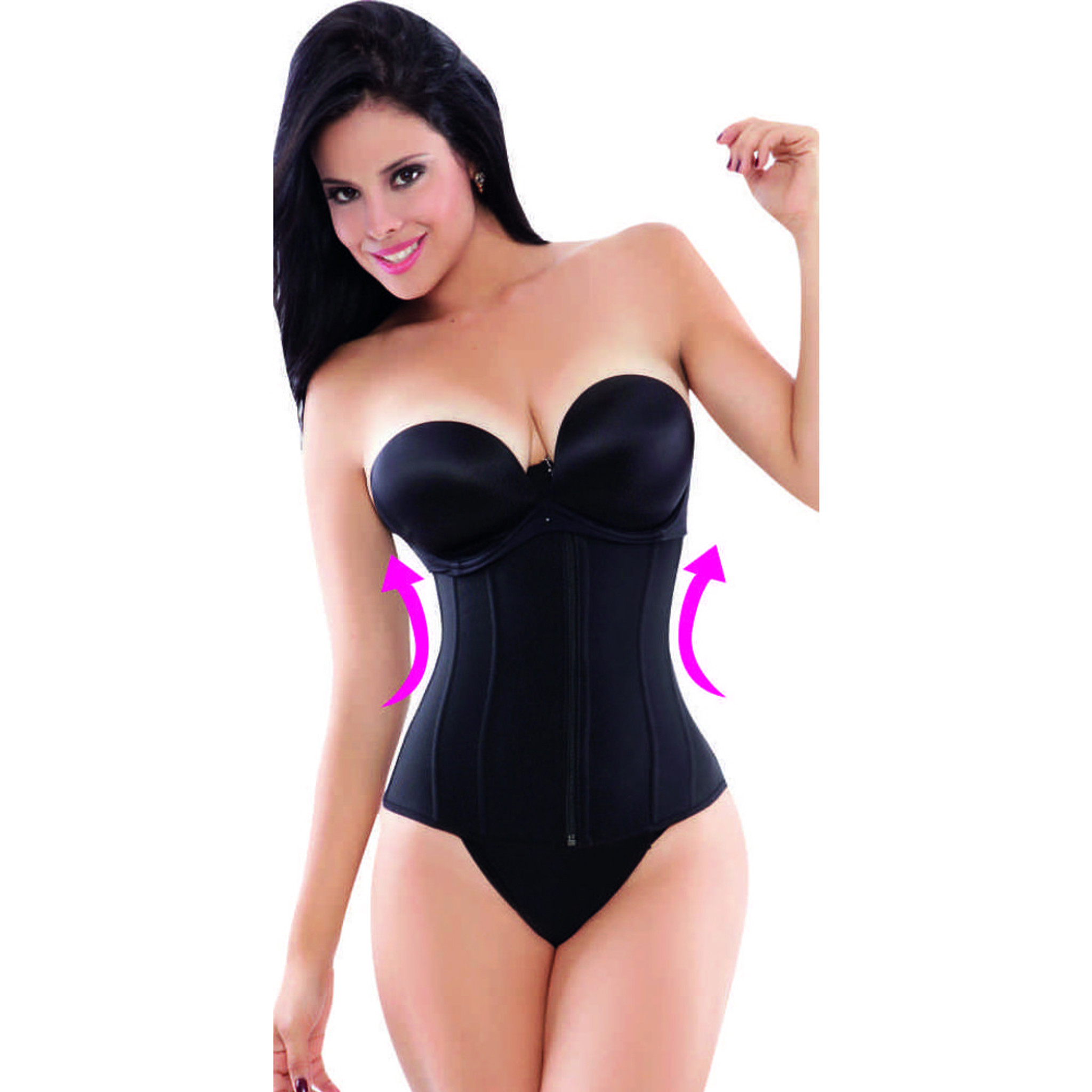 Ann Michell 1024B Excelencia Powernet Waist Trainer - Latex Free Black Fajas Colombianas