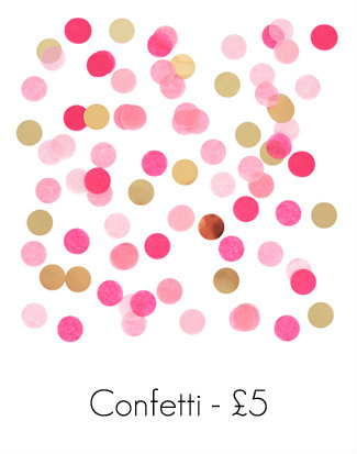 Pink and Gold Confetti