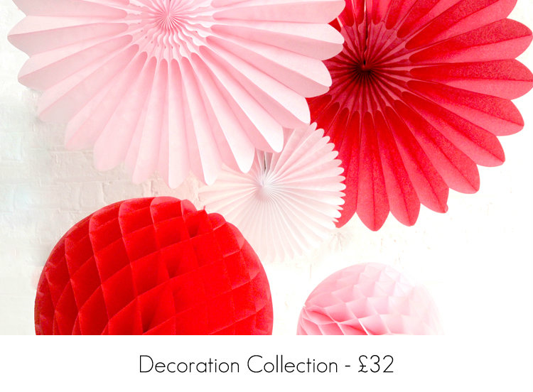 Red and Pink Paper Party Decorations