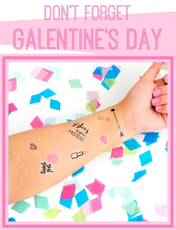 galentines day temporary tattoos