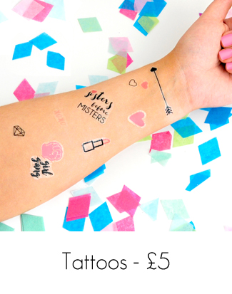Temporary Hen Party Tattoos