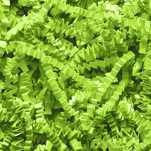 Green Crinkle cut gift wrap paper shredding for gifts, presents, craft projects and wedding favours