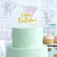 Gold glitter happy birthday cake candle for party cake topper
