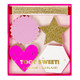 Pink and gold star heart glitter garland for hen parties, birthdays and weddings.