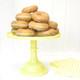Yellow Milk Glass Cake Stand