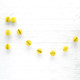 Mini Yellow Honeycomb Ball Garland Decoration for Birthday Parties, Hen Dos, Baby Showers and Photo Booth Backdrops.