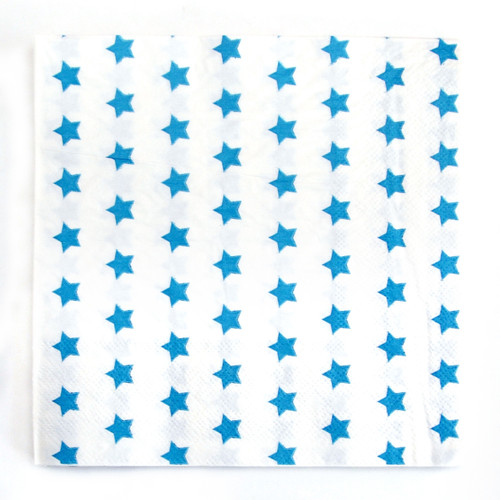 Blue Star Paper Party Napkins