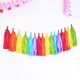 Rainbow Tissue Paper Tassel Party Garland for Childrens Birthday Parties, Celebrations, Summer BBQs and Home Decor