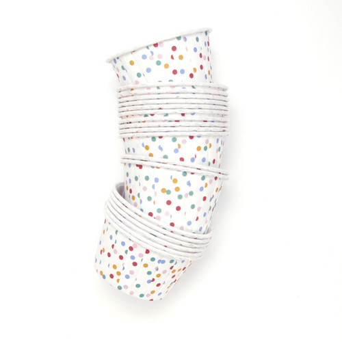 Polka Dot Party Serving Cups for ice cream, snacks, treats and nibbles