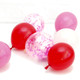 Red and pink confetti balloon collection