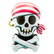 Jolly Roger Foil Pirate Helium Balloon for Childrens Birthday Parties
