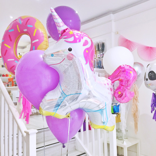 Unicorn Foil Helium Balloon for Childrens Birthday Parties and hen parties