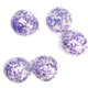 Purple and silver confetti balloons