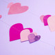 Pink heart garland decoration for pretty childrens parties and stylish hen dos