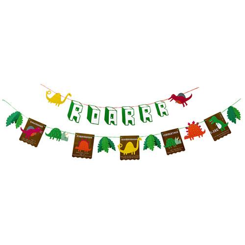 Dinosaur party garland for children's birthday parties