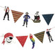 Pirate party garland decoration for children's birthday parties