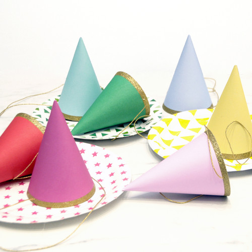 Rainbow Birthday Party Hats for Children's Parties