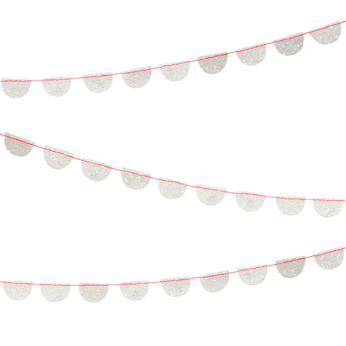 Stylish iridescent glitter party garland