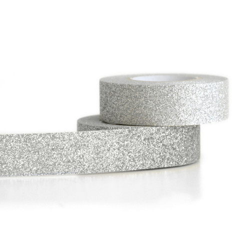Silver Glitter gift tape for craft projects and presents
