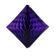 Purple tissue paper diamond decoration for kids birthday parties, weddings, dessert table displays and hen dos.