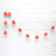 Mini Coral Honeycomb Ball Garland Decoration for Birthday Parties, Hen Dos, Baby Showers and Photo Booth Backdrops.