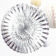Silver Deluxe Metallic Fan Decoration for Birthday Parties, Weddings, Baby Showers and Hen Dos