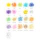 Confetti mix colour chart