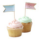 Pastel Food Flag Labels for Party Food and Nibbles