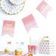 Pink Ombre Happy Birthday Flag Bunting Decoration