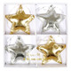 Gold and silver star decorations for your Christmas tree