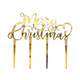 Metallic gold merry Christmas cake topper