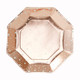 Rose gold star Christmas party plates