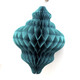 Teal Christmas Honeycomb Lantern Decoration
