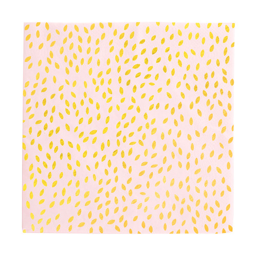 Gold seeds paper party napkins