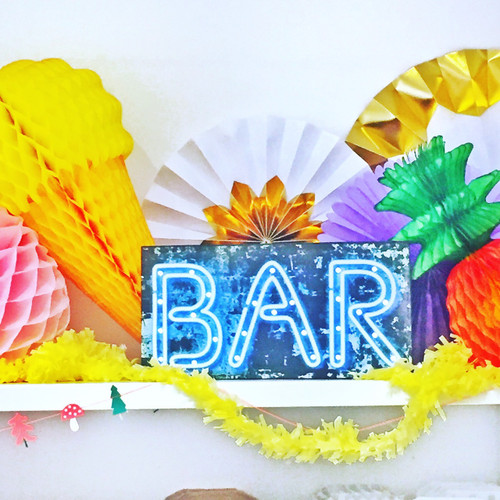 Light up bar sign for weddings, parties, bars and new years eve.