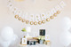 Custom gold foil wedding bunting decoration in gold