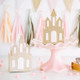 Gold Glitter Princess Castle Party Gift Boxes