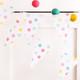 Rainbow Polka Dot Bunting