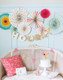 Rainbow Hooray Party Fan Decoration Collection
