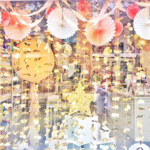 Gold floral party photo booth backdrop decoration