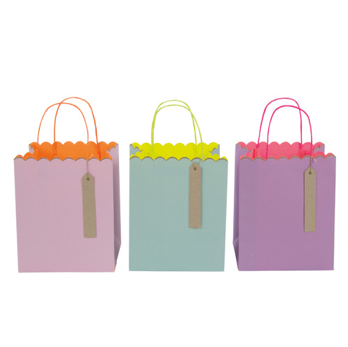 Neon and pastel mix party gift bags