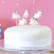 Unicorn birthday cake candles for childrens parties, princess birthdays and hen dos