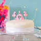 Flamingo Birthday Cake Candles for Hen Parties, Tropical and Summer Celebrations