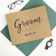 Luxury personalised groom to be gift box to give a present on his wedding day