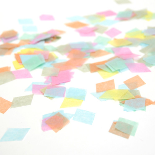 Diamond tissue paper confetti for weddings and parties