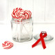 Glass candy jar for christmas sweets and lollipops