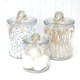 Glass candy jar for party sweets tables, wedding dessert buffets and storing kitchen items in the home