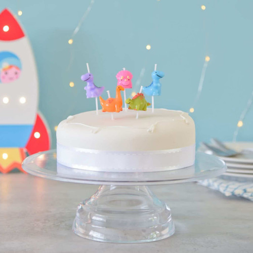 Dinosaur Themed Birthday Cake Party Candles for a Jurassic Themed Celebration!